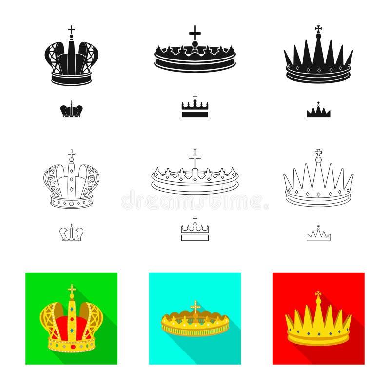 Objeto aislado del logotipo medieval y de la nobleza Fije del ejemplo com?n medieval y de la monarqu?a del vector libre illustration