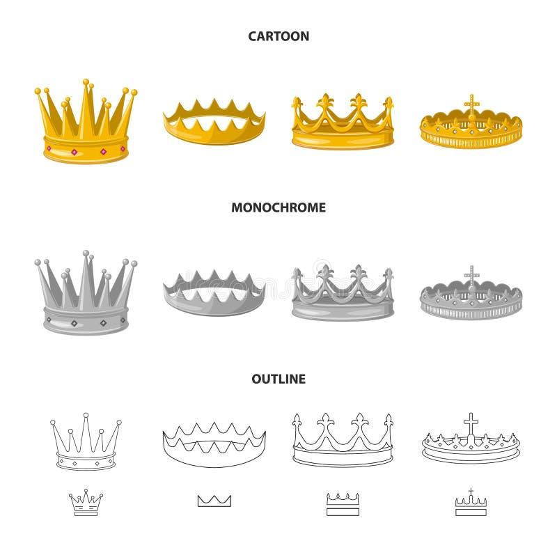 Objeto aislado del logotipo medieval y de la nobleza Fije del ejemplo com?n medieval y de la monarqu?a del vector ilustración del vector