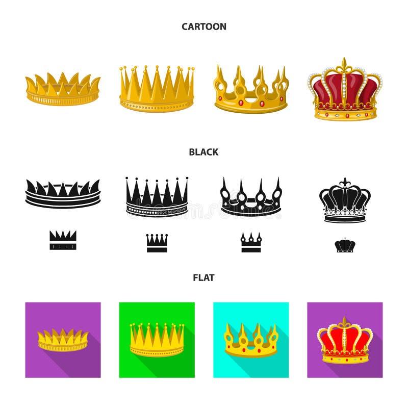 Objeto aislado del logotipo medieval y de la nobleza Fije del ejemplo com?n medieval y de la monarqu?a del vector stock de ilustración