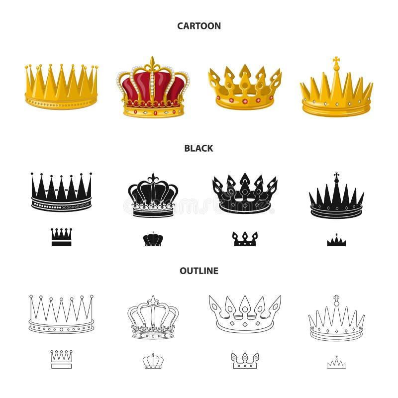 Objeto aislado del logotipo medieval y de la nobleza Fije del icono medieval y de la monarqu?a del vector para la acci?n stock de ilustración