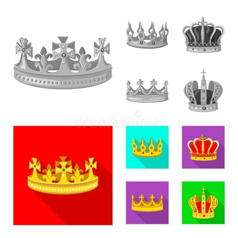 Objeto aislado del logotipo medieval y de la nobleza Fije del s?mbolo com?n medieval y de la monarqu?a para la web stock de ilustración