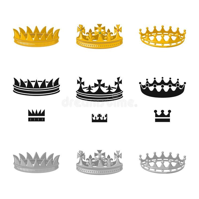 Objeto aislado del logotipo medieval y de la nobleza Fije del s?mbolo com?n medieval y de la monarqu?a para la web ilustración del vector