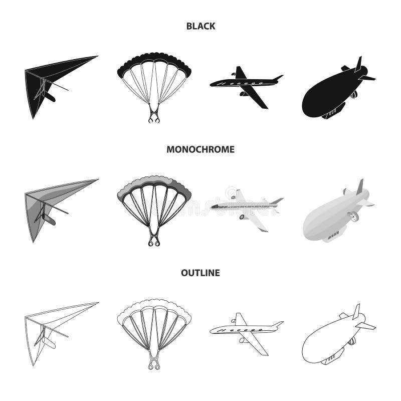 Objeto aislado del logotipo del transporte y del objeto Fije de transporte y del icono de deslizamiento del vector para la acci?n libre illustration