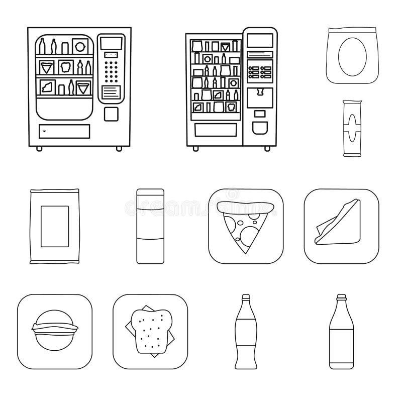 Objeto aislado del negocio y de la muestra del bocado Colección de icono del vector de las empresas y consumidores para la acción libre illustration