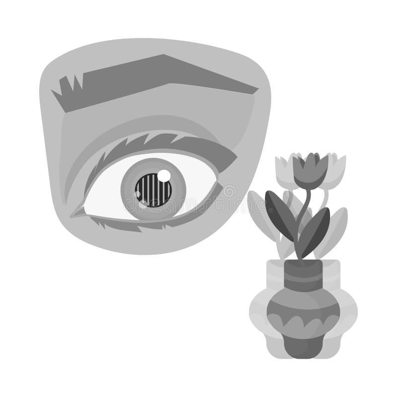 Objeto aislado del ojo y del logotipo pobre Colección de ojo y de ejemplo común del vector de la ceguera libre illustration