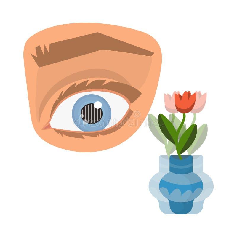 Objeto aislado del ojo y del logotipo pobre Fije de ojo y del icono del vector de la ceguera para la acción libre illustration