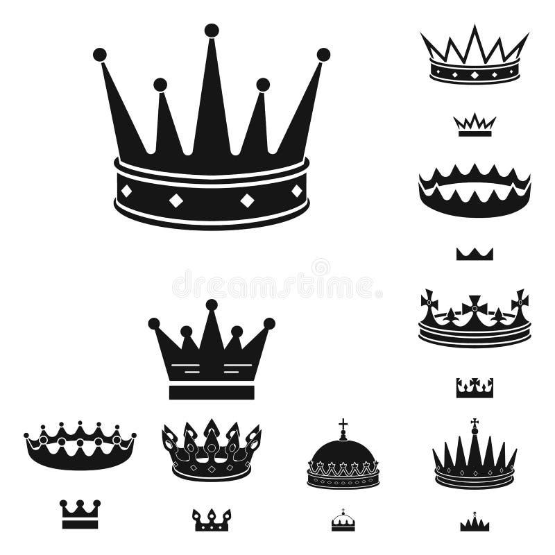 Objeto aislado del rey y del icono majestuoso Colecci?n de ejemplo del vector de la acci?n del rey y de oro ilustración del vector
