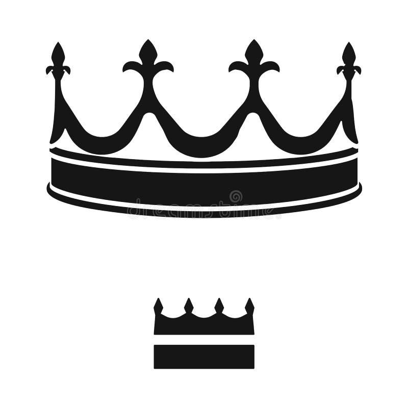 Objeto aislado del rey y del logotipo majestuoso Colecci?n de ejemplo del vector de la acci?n del rey y de oro libre illustration