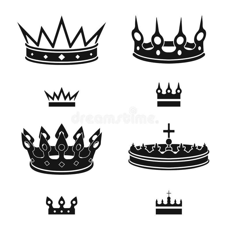 Objeto aislado del rey y del logotipo majestuoso Fije del s?mbolo com?n del rey y de oro para la web libre illustration