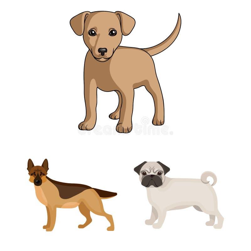 Objeto aislado del símbolo del animal y del hábitat Fije del símbolo común del animal y de granja para la web ilustración del vector