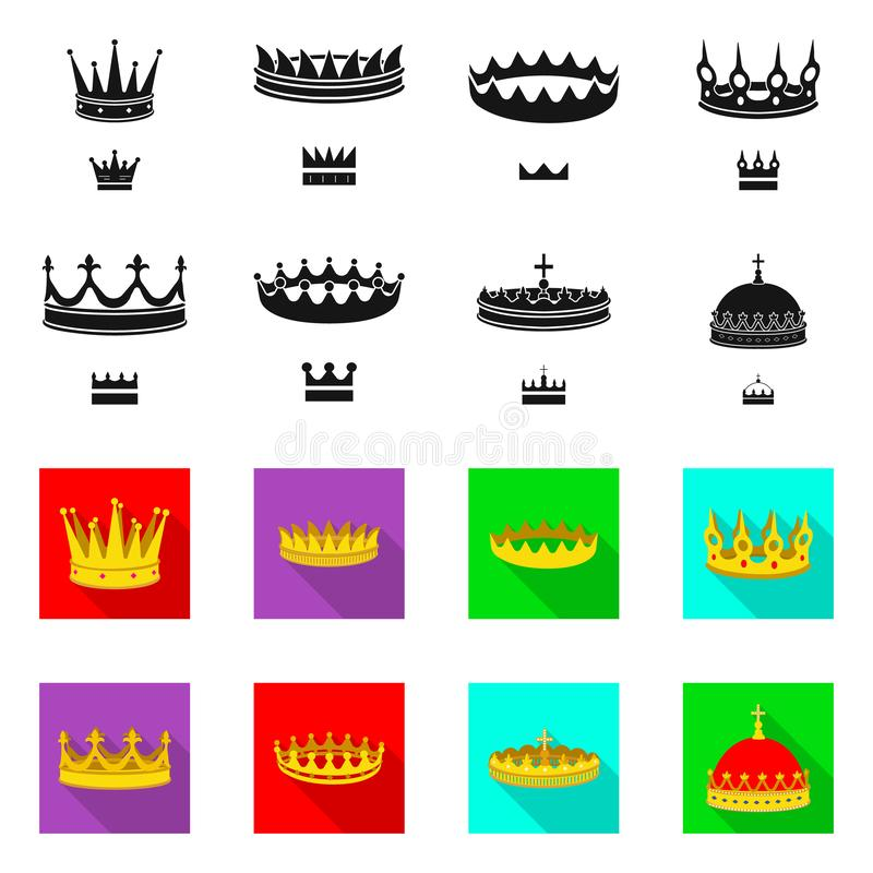 Objeto aislado del s?mbolo medieval y de la nobleza Colecci?n de ejemplo com?n medieval y de la monarqu?a del vector libre illustration