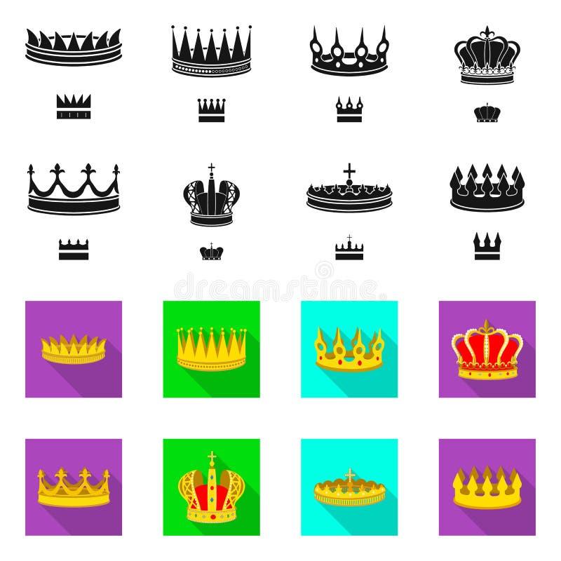 Objeto aislado del s?mbolo medieval y de la nobleza Fije del s?mbolo com?n medieval y de la monarqu?a para la web stock de ilustración