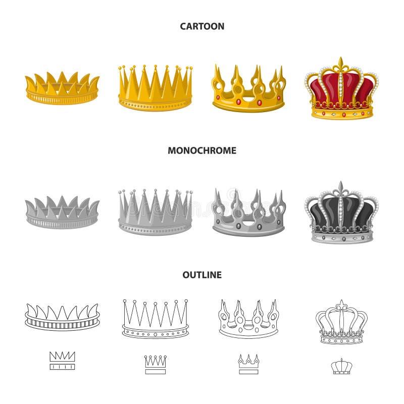 Objeto aislado del s?mbolo medieval y de la nobleza Fije del icono medieval y de la monarqu?a del vector para la acci?n libre illustration