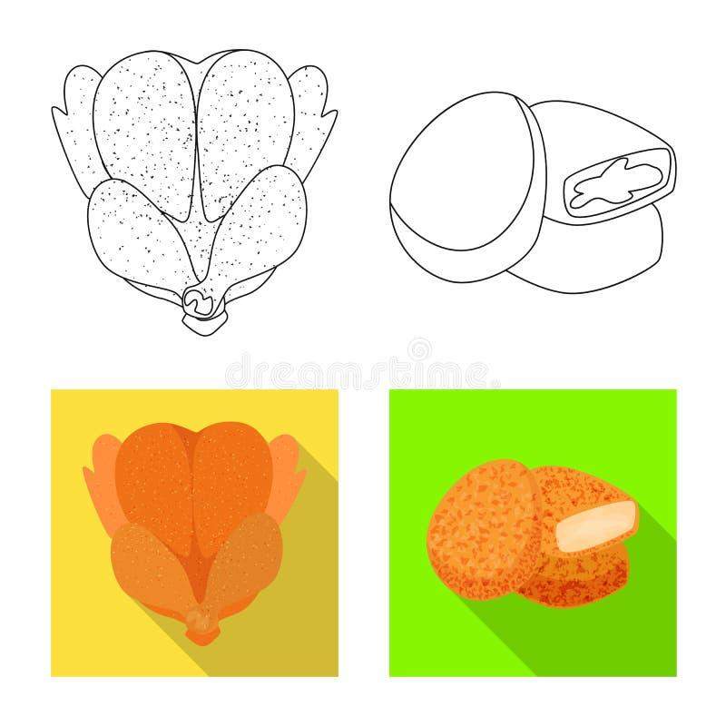 Objeto aislado del s?mbolo del producto y de las aves de corral Fije de producto y del ejemplo com?n del vector de la agricultura ilustración del vector