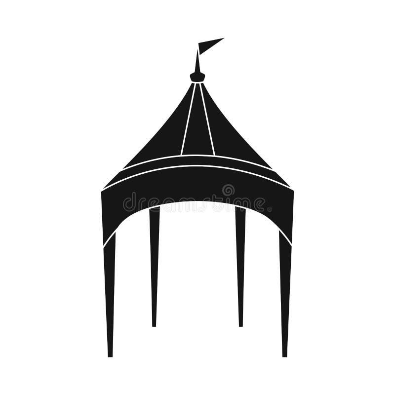 Objeto aislado del s?mbolo del toldo y de la tienda Fije del ejemplo del vector de la acción del toldo y de la sombrilla ilustración del vector