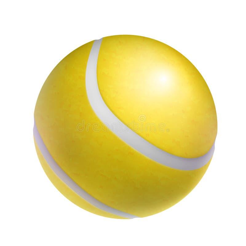 Objeto amarillo realista de la pelota de tenis libre illustration