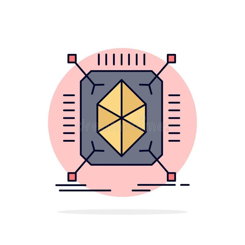 Objeto, creación de un prototipo, rápida, estructura, vector plano del icono del color 3d libre illustration