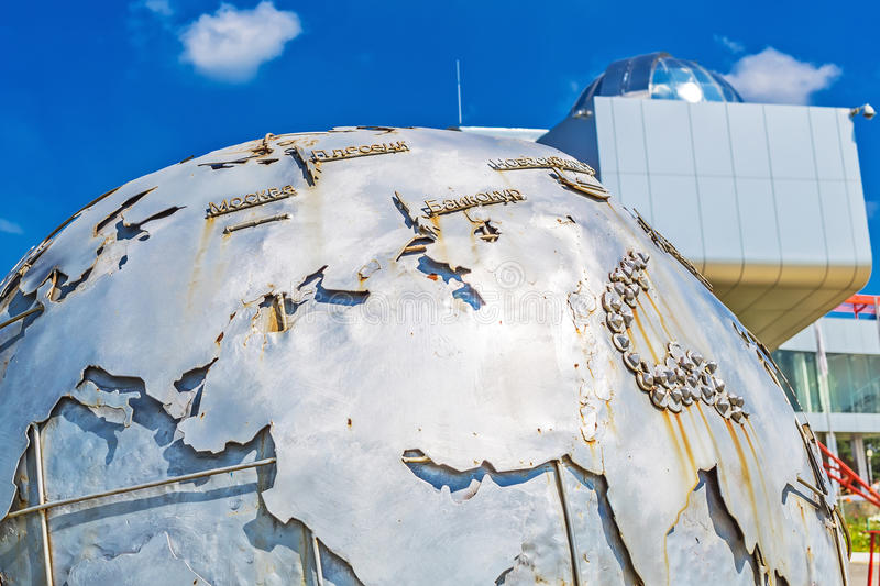 Objeto da arte sob a forma de um globo da terra no grande Novo fotografia de stock royalty free