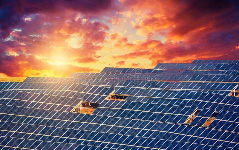 Objeto da energia solar panels fotografia de stock royalty free