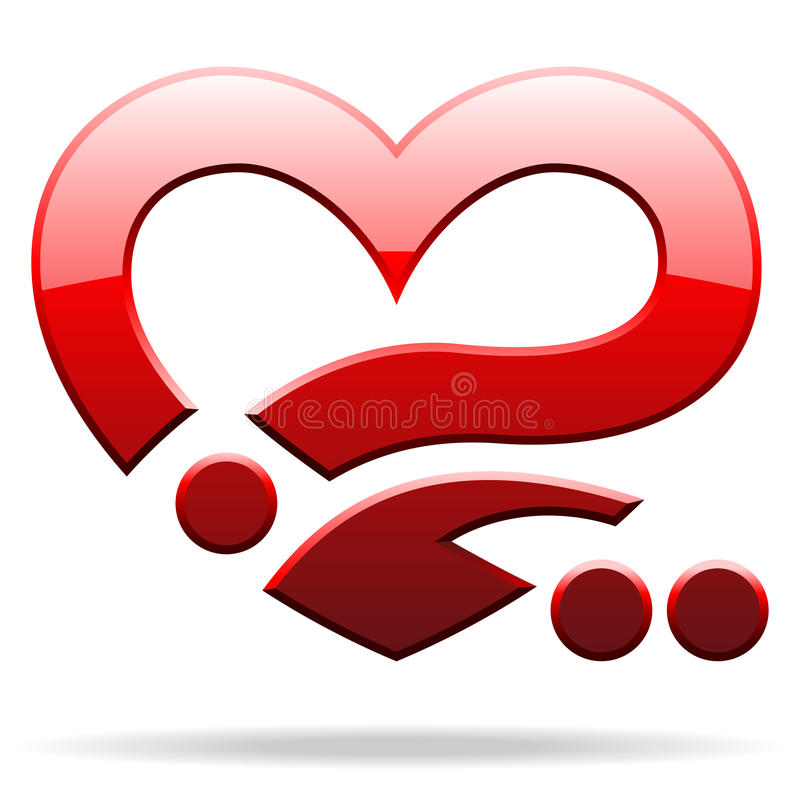 Download Objeto da forma do coração ilustração do vetor. Ilustração de artwork - 26517783