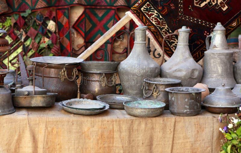 Objeto de cobre de Anatolia foto de archivo libre de regalías