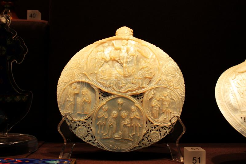 Objeto de la exposición en la casa santa de la misericordia, Macao, China imágenes de archivo libres de regalías