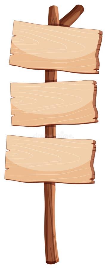 Objeto de madera en blanco de la muestra stock de ilustración