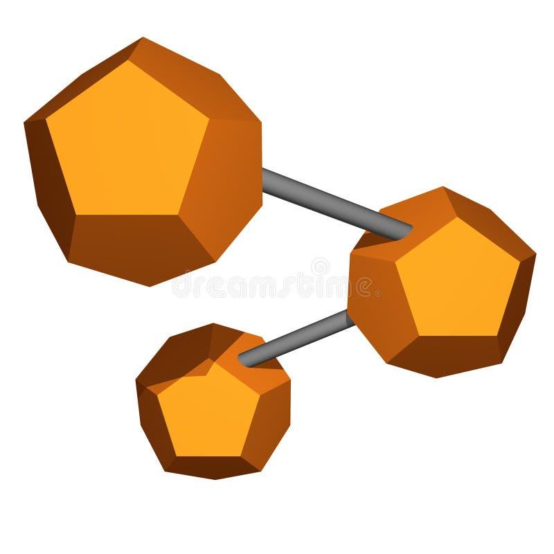 Objeto de red para el diagrama y la presentación ilustración del vector