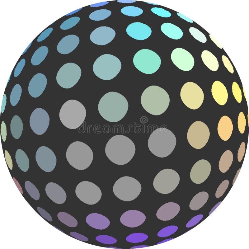 Objeto de semitono del ejemplo de la esfera 3d del mosaico del holograma aislado Icono creativo del dise?o libre illustration
