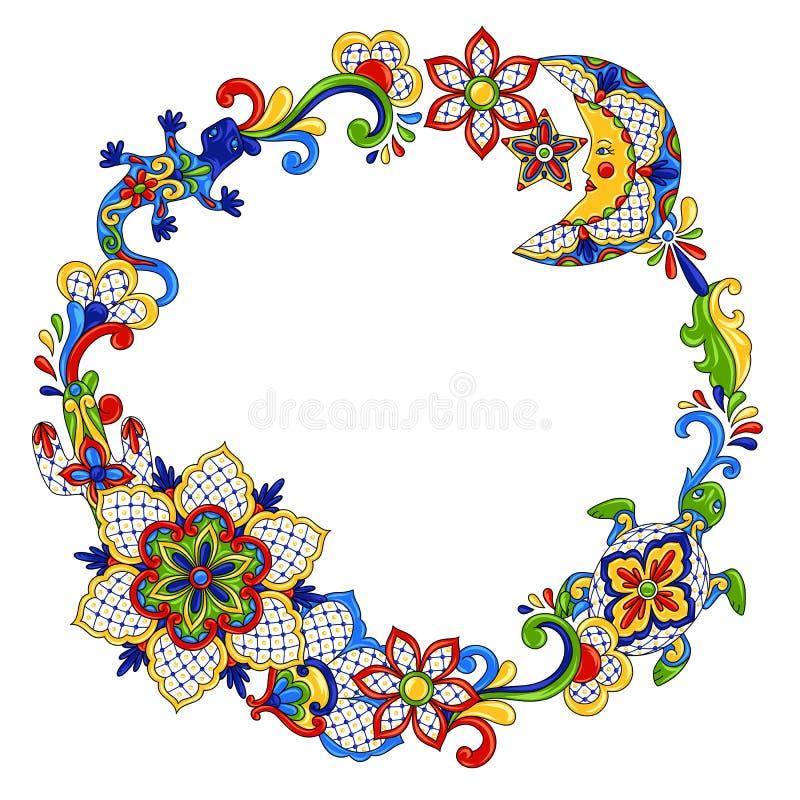 Objeto decorativo tradicional mexicano stock de ilustración