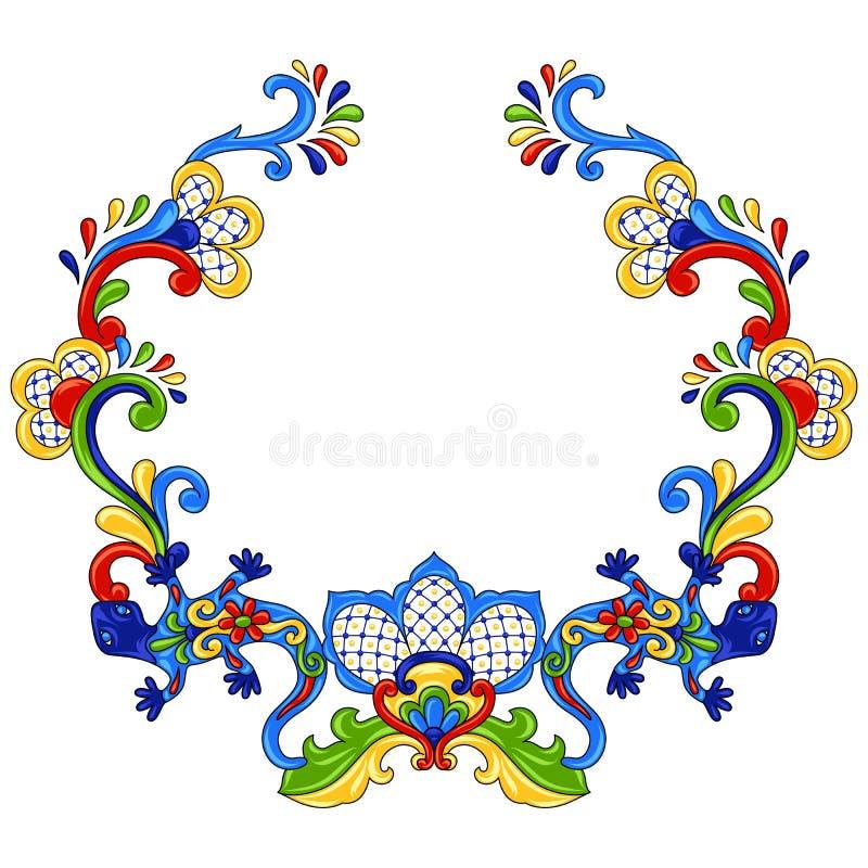 Objeto decorativo tradicional mexicano ilustración del vector
