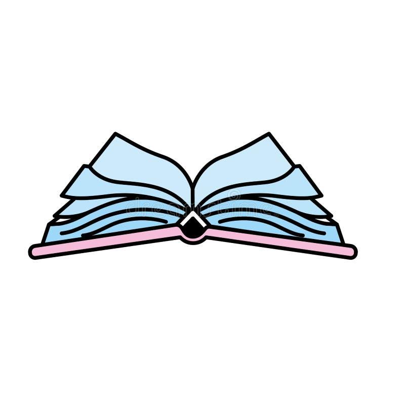 Objeto del cuaderno abierto con los papeles libre illustration