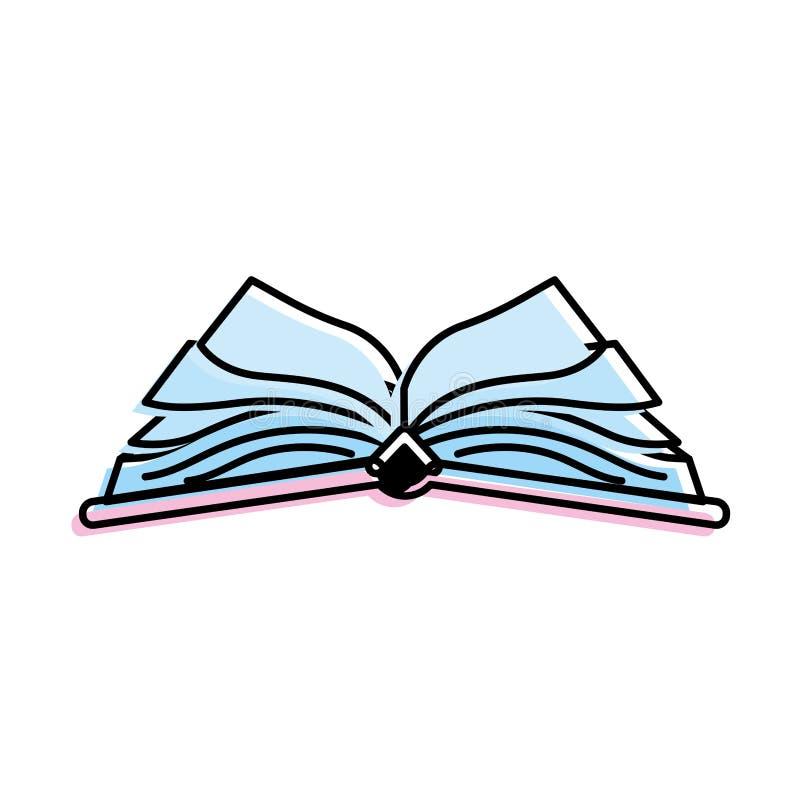 Objeto del cuaderno abierto con los papeles ilustración del vector