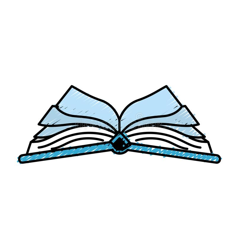 Objeto del cuaderno abierto con los papeles stock de ilustración