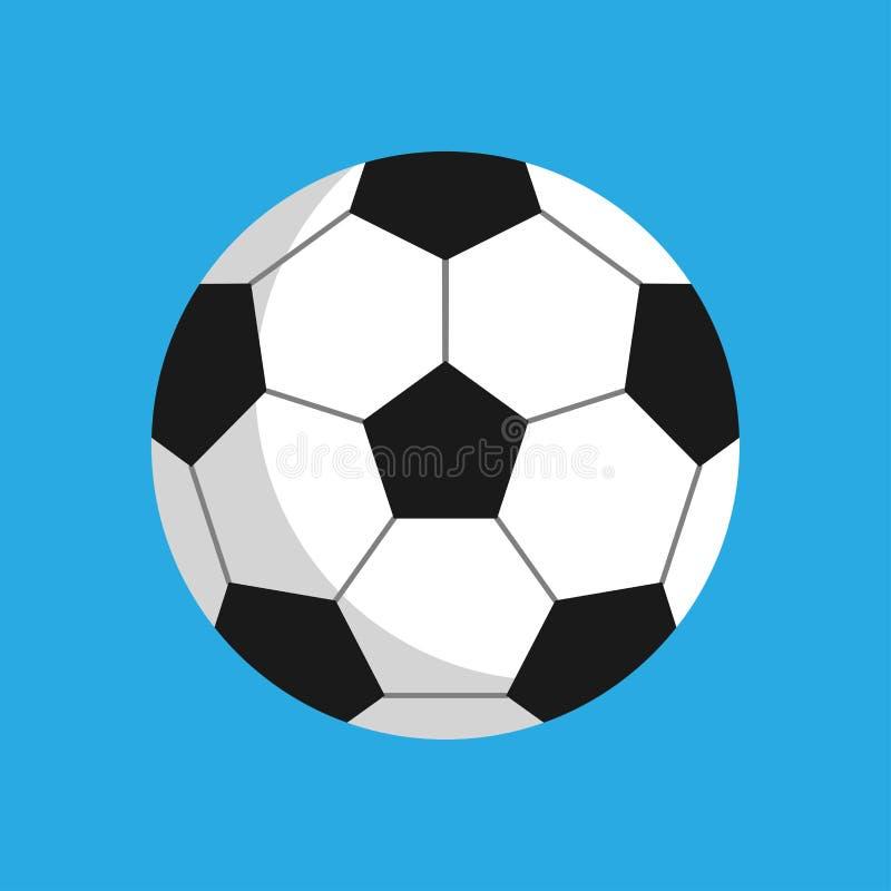 Objeto del icono del vector de la ronda de la actividad del balón de fútbol Silueta del club del juego del deporte del ocio de la ilustración del vector