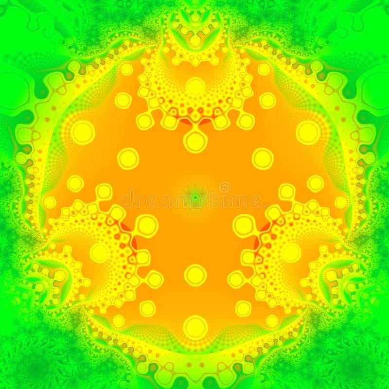Objeto del ornamental del fractal stock de ilustración