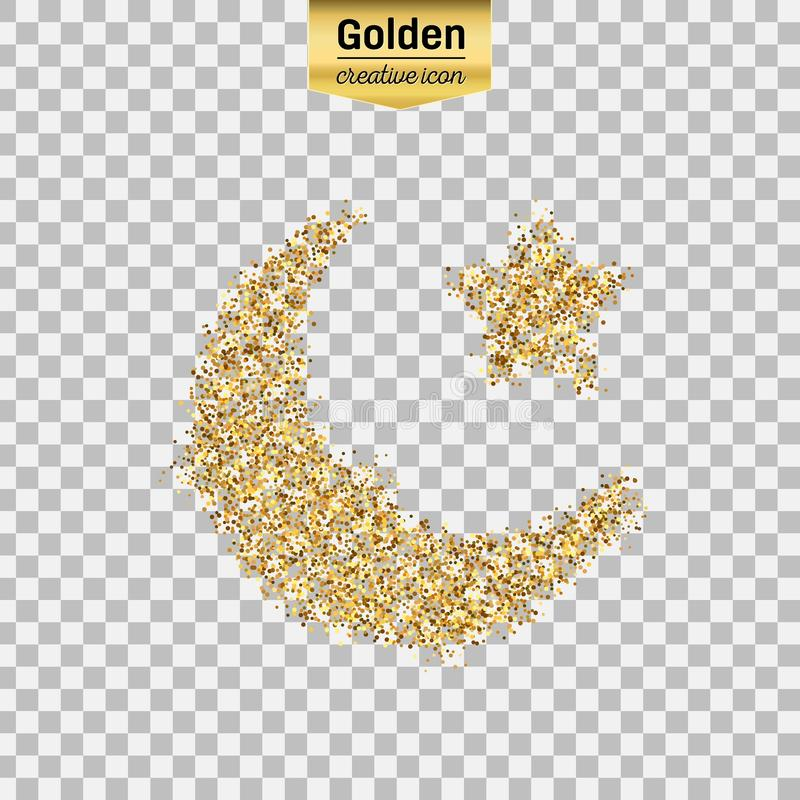 Objeto do brilho do ouro ilustração stock
