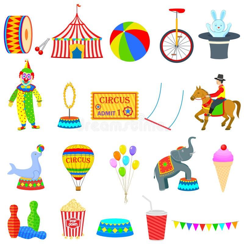 Objeto do circo ilustração royalty free