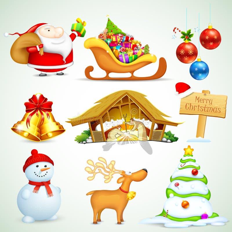 Objeto do Natal ilustração do vetor