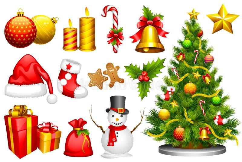 Objeto do projeto do Natal ilustração stock