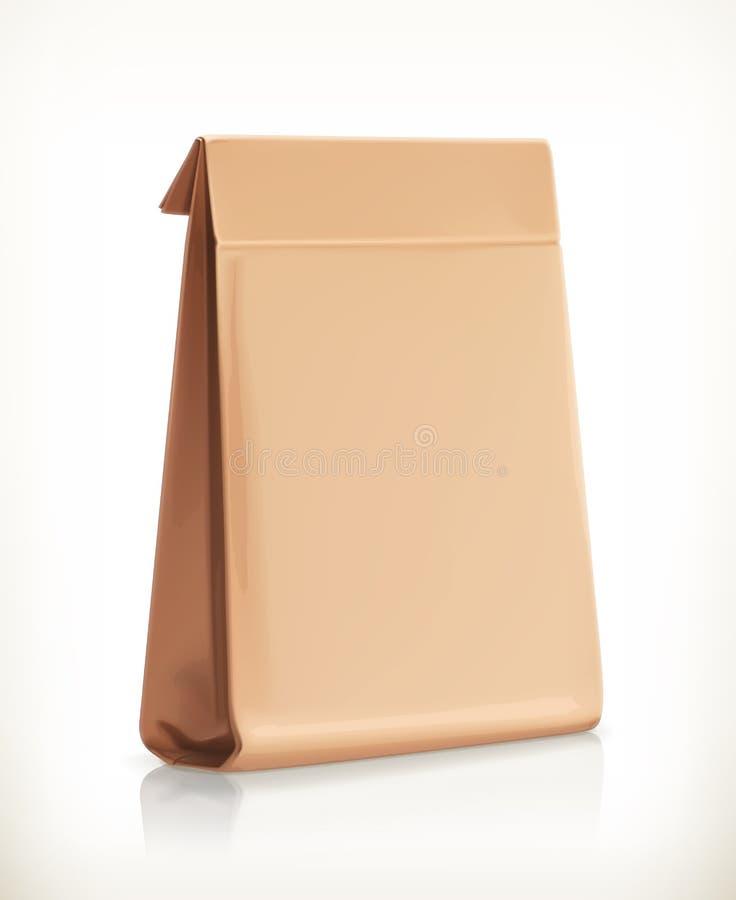 Objeto do vetor do saco de papel ilustração stock