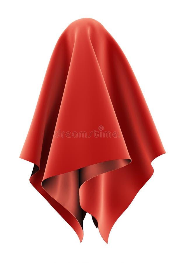Objeto esférico cubierto con la pañería roja del terciopelo ilustración del vector