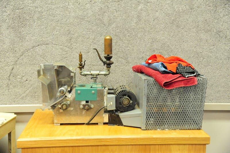 Objeto expuesto de la máquina de la prensa de algodón en el museo del Tunica en Mississippi del norte fotos de archivo libres de regalías