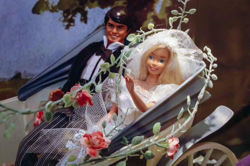 Objeto expuesto de la mu?eca de Barbie fotografía de archivo