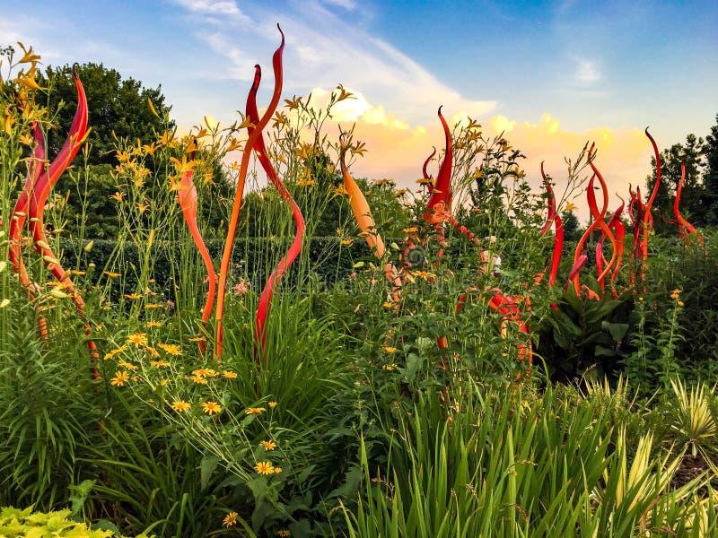 Objeto expuesto del jardín de Chihuly, Atlanta foto de archivo libre de regalías