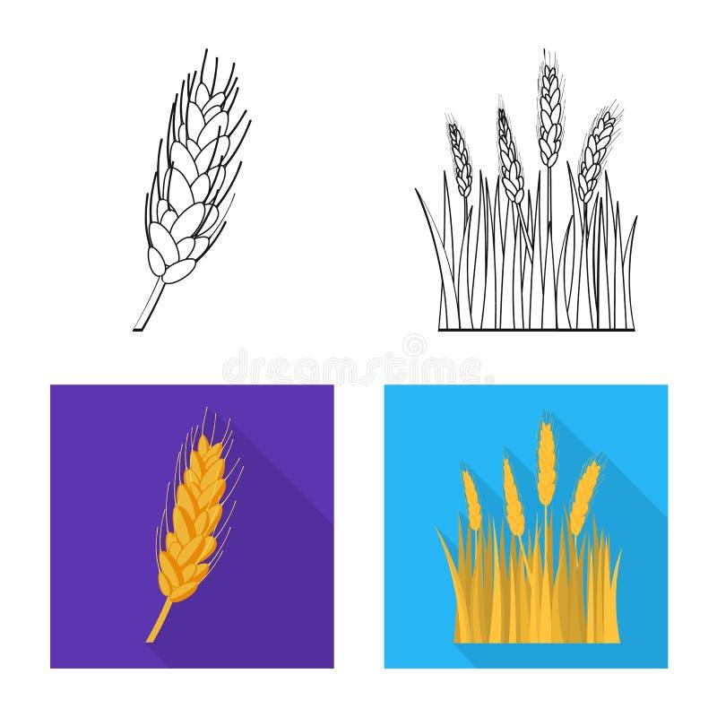 Objeto isolado da agricultura e do sinal do cultivo Cole??o da agricultura e da ilustra??o do vetor do estoque da planta ilustração do vetor
