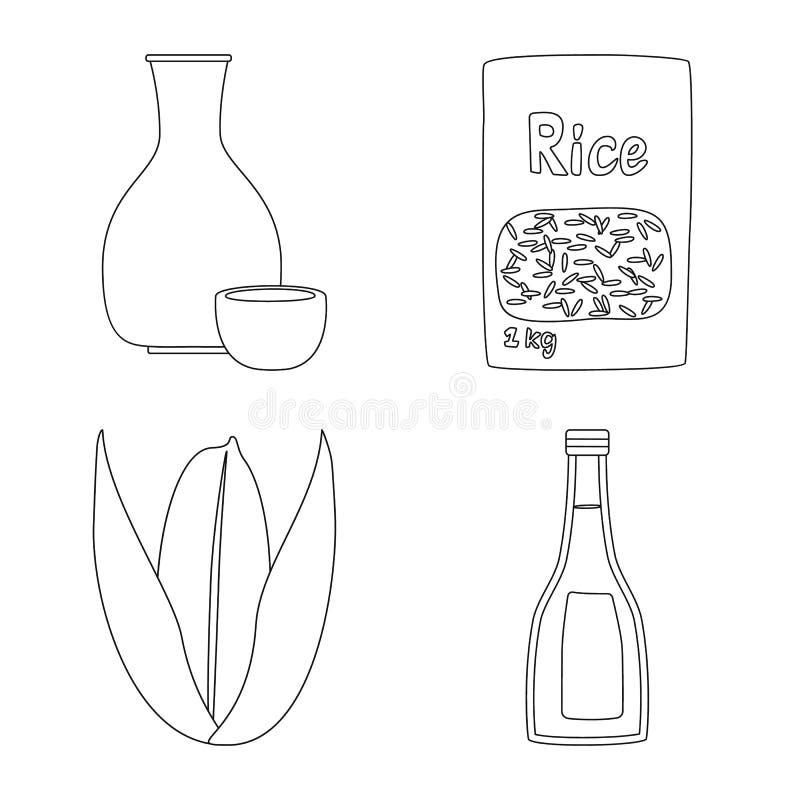 Objeto isolado da dieta e do ?cone do cozimento Ajuste da dieta e do s?mbolo de a??es org?nico para a Web ilustração stock