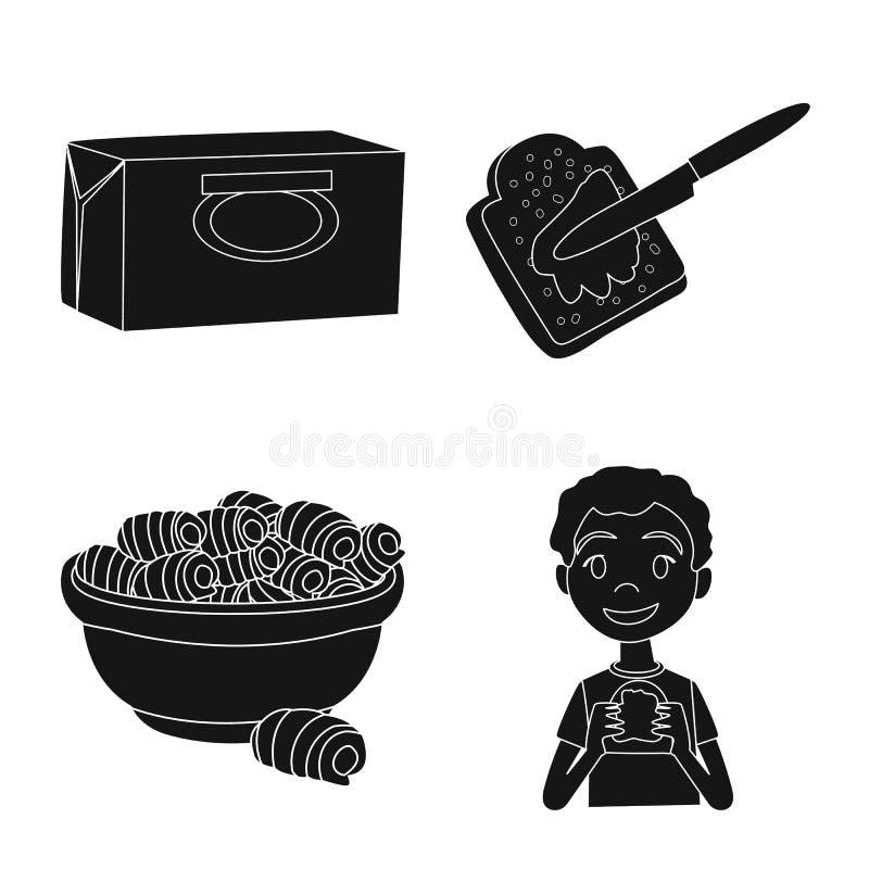 Objeto isolado da dieta e do logotipo da exploração agrícola Ajuste da dieta e do ?cone do vetor da leiteria para o estoque ilustração royalty free