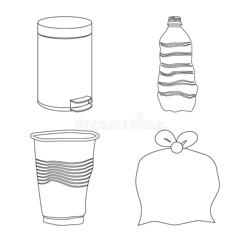 Objeto isolado da ordem e do logotipo da reciclagem Ajuste da ilustra??o do vetor do estoque da ordem e do tipo ilustração do vetor