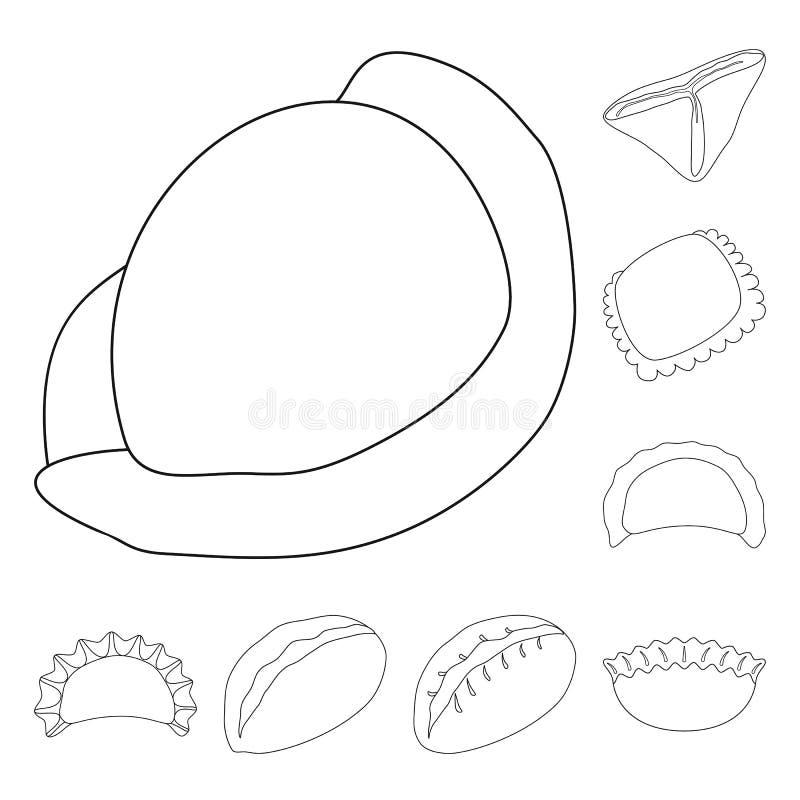 Objeto isolado de alimentação e sinal de prato Símbolo de produção de alimentos e de alimentos para a web ilustração royalty free